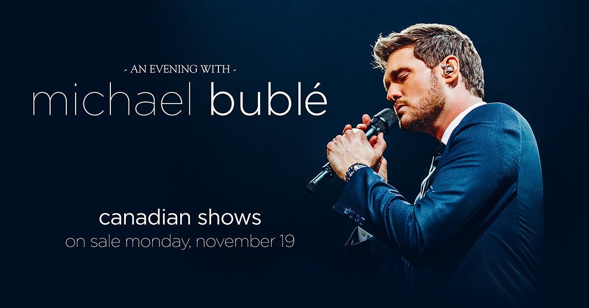 3ba9a7ac66d Michael Bublé`s Canadian 2019 Tour Announced | TFA Backstage | The Feldman  Agency