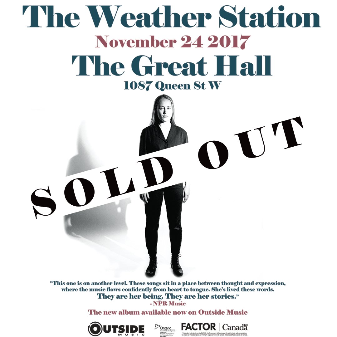 Tonight`s the night! SOLD OUT The Weather St | TFA Backstage | The ...